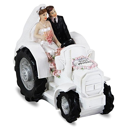 Hucha Tractor Just Married boda 14 cm