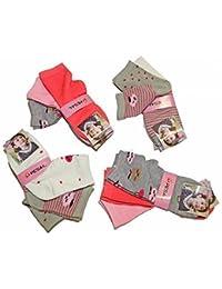 Lot de 12 paires Chaussettes Socquettes imprimées   uni Fille Pointure  23 26 ... 09336538c0f