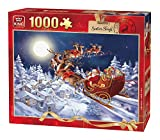 King 05601 - Puzzle Christmas Santa's Sleigh, 1000 Stuck