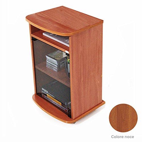 Carrello porta Tv mobile colore noce con vetrina Cm 47x40xH 73