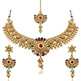 Palash Golden Color Alloy Necklace Set For Women(PNZ01N3AHS) best price on Amazon @ Rs. 775