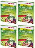 (4 PACK) - Ortis - Ortis Fruits And Fibre Cubes | 12 Cubes box | 4 PACK BUNDLE