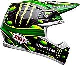 BELL 7093191 Casco per Moto, Mcgrath Monster Green/Black, Taglia L