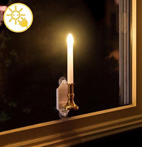 rzen, Solar Kerzenlicht Gelb Flackern/Flammenlose Glühbirnen Batteriebetriebene LED Säule Kerzen für Party Home koration,Weihnachten,Halloween und Thanksgiving ()