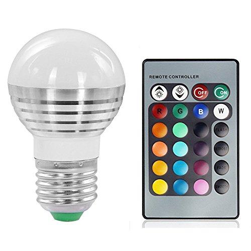 Lennystone® 3W Lampada Bulbo a LED con IR Telecomando,16 Cambia