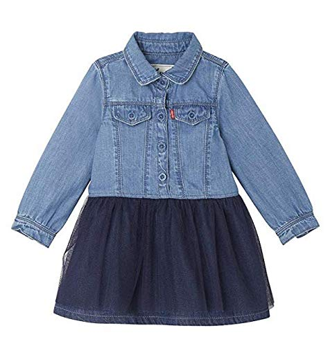 Levi's Kids Baby-Mädchen Bekleidungsset Dress NM30514, Blau (Indigo 46), 18-24 Monate (Herstellergröße: ()