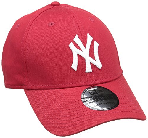 New Era Herren Baseball Cap Mütze M/LB Basic NY Yankees 39Thirty Stretch Back, Scarlet/White, L/XL, 10298276