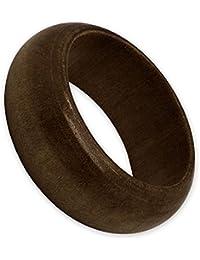 SoulCats® 1 anillo de madera beige marrón oscuro orgánico constitución natural