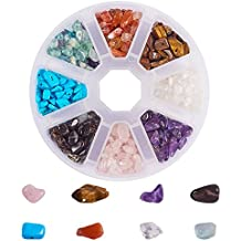 62b7782f1a4b PandaHall Elite 1 Caja Circa 800 Pcs Abalorios de Piedras Preciosas Chip  Cuentas de Piedra para
