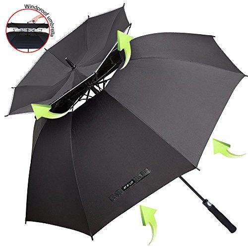 Grand Parapluie Automatique de Golf - Solide Homme Femme Taille 157,5 cm Anti UV Anti Retournement...
