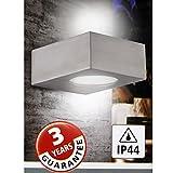 LED Außenleuchte 5W Wandleuchte IP44 Edelstahl Glas Up/Down Außen Wandlampe NEU 55359034