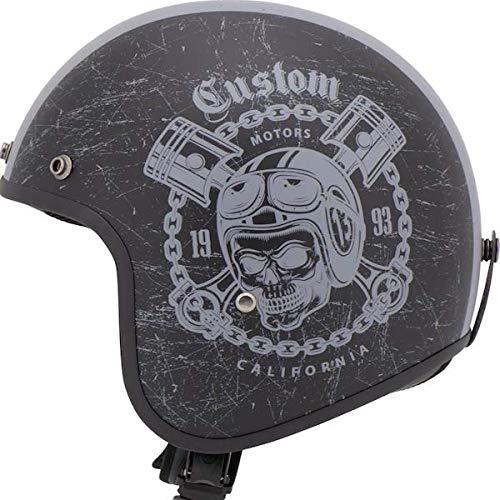 Casco Jet Helmet MTR Fiber Custom Grey Gris homologado