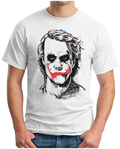OM3 - JOKER - T-Shirt JACK PINGUIN Mr. FREEZE EMO SWAG POKER, S - 5XL Weiß