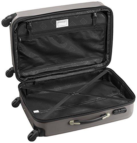 HAUPTSTADTKOFFER - Alex - 2er Koffer-Set Hartschale glänzend, 65 cm + 55 cm, 74 Liter + 42 Liter, Graphit-Blau Champagner-Graphit