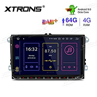 XTRONS-9-Android-90-4GB-RAM-64GB-ROM-Autoradio-mit-Touch-Screen-Octa-Core-Multimedia-Player-untersttzt-4G-WiFi-Bluetooth-DAB-OBD2-TPMS-Musik-Streaming-Plug-und-Play-FR-VW-Skoda-SEAT