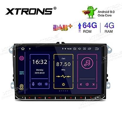 XTRONS-9-Android-90-4GB-RAM-64GB-ROM-Autoradio-mit-Touch-Screen-Octa-Core-Multimedia-Player-untersttzt-4G-WiFi-Bluetooth-DAB-OBD2-TPMS-Musik-Streaming-Plug-und-Play-FR-VW-Skoda-SEAT