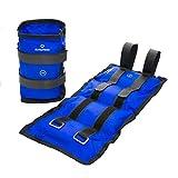 #DoYourFitness® 2x Gewichte für Hand- & Fußgelenk ab 0,5kg bis 3kg - robuster Klettverschluß - Knöchelgewichte / Manschetten - Ausdauer-, Kraft- & Cardiotraining