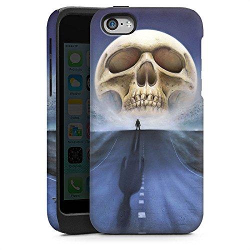 Apple iPhone 5s Housse Étui Protection Coque Rue Tête de mort Crâne Cas Tough brillant