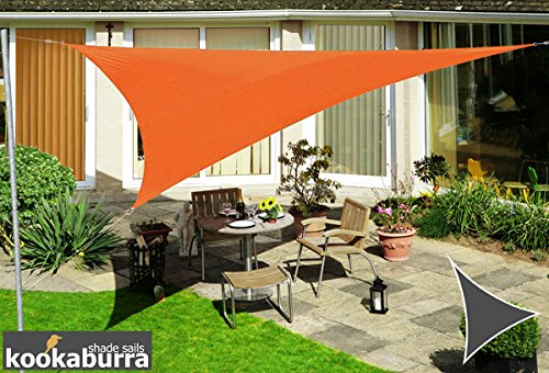 Kookaburra Voile d'Ombrage Imperméable 3,0m Triangle Orange