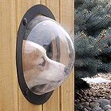 TAOtTAO Haustier Fenster Hund Zaun Fenster Pet Peek Fence Blase Fenster für Hunde dauerhafte Acryl Kuppel Zaun Fenster