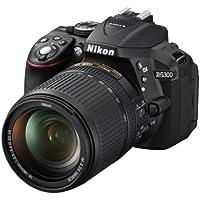 Nikon D5300 Fotocamera Reflex Digitale 24.1 Megapixel, LCD HD 3 Pollici Regolabile, SD 8GB 200x Premium Lexar ed Obiettivo Nikkor 18/140VR, Nero [Nital Card: 4 Anni di Garanzia]
