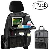 Organizer Auto, AresKo Auto Esstisch Rückenlehnenschutz mit Touch Screen Tablet Halterung Auto für Kinder Reise Tägliche Gebrauch, 1 Stück