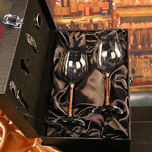 Hjb cristallo di vino rosso di cristallo senza piombo di alta qualità con calice di diamanti bicchiere di vino di cristallo bicchieri di vino regalo di nozze set bar drinkware-b