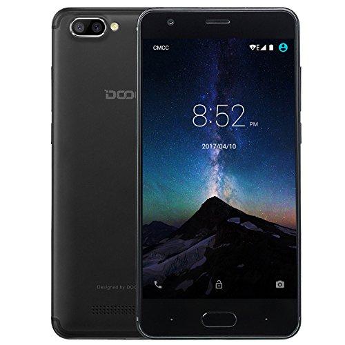 rag, DOOGEE X20L 4G Dual SIM Android 7.0 Günstig Handy, 5 Zoll HD IPS MT6737 Quad Core handys, 2GB RAM +16GB ROM mit Dual 5.0MP Kamera, GPS, Wifi, Bluetooth 4.0 - Schwarz (Schöne Billige Android-handys)