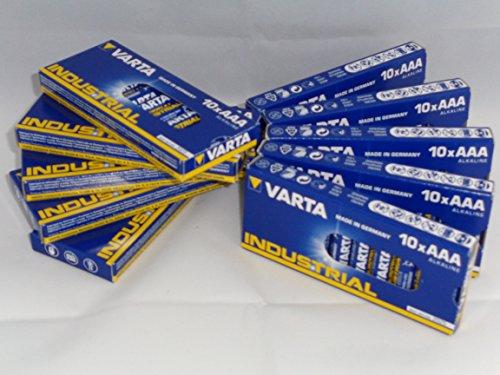 GWS-POWERCELL 100 TEILIGES VARTA INDUSTRIAL SPARPAKET 100x MICRO AAA LR03 1,5V Alkaline (10x 10er) (Aaa Varta)
