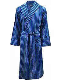 Robe de chambre légère 100% - rayé bleu / vert - homme
