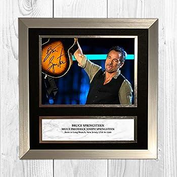 HWC Trading Bruce Springsteen Signiertes A4 gedrucktes Autogramm mit Musik Geschenk Druck Foto Display