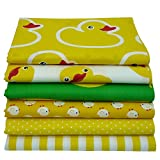6 Stück Ente und Huhn bedruckt Baumwollstoff für Patchwork,patchwork stoffe,baumwollstoff meterware,stoffe patchwork stoffpaket