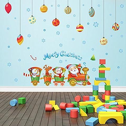 Kreatives weihnachten,dekorative wand-aufkleber/kleidung shop fenster aufkleber/train christmas ball fenster aufkleber-A