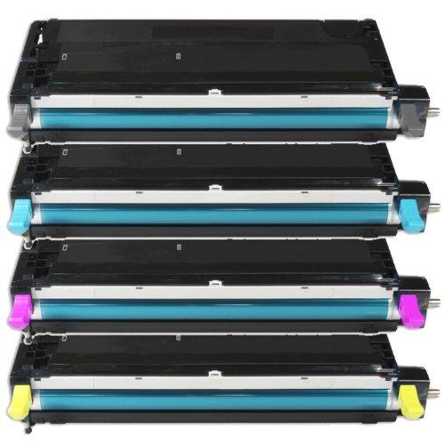 4x Eurotone Premium Toner XXL für Xerox Phaser 6280 DN VDN 6280DN 6280VDN - alle Farben - Black Cyan Magenta Yellow Set - Premium Alternative (Toner Farbe Xerox)