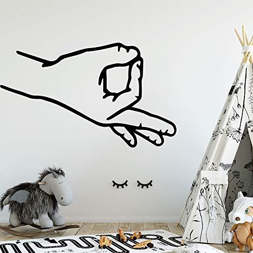 woyaofal Amüsant Ok Vinyl Selbstklebende Tapete Für Jungen Schlafzimmer Aufkleber Hintergrund Wandkunst D L 43 cm X 72 cm