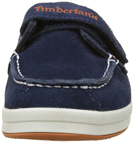 Timberland Dover Bay H&l Boatblack Iris Suede with Orange, Chaussures Bateau Mixte Enfant Bleu (Black Iris Suede With Orange)
