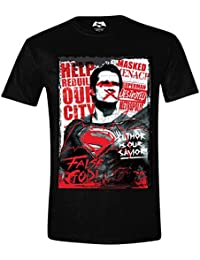 Batman Vs. Superman Superman Wanted Camiseta Negro