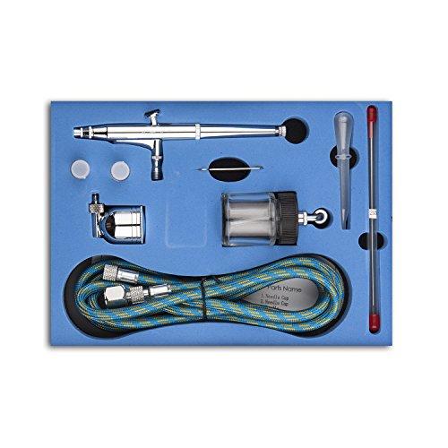 Sp134k professionale a doppia azione kit aerografo 0.2mm / 0.3mm / 0.5mm aghi 7cc e 22cc cup trigger air-paint control airbrush set per art tattoo nail art makeup artigianato cake spray strumento di modellazione