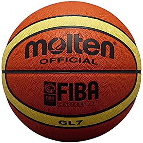 Molten BGL7 - Balón de baloncesto, color naranja, tamaño 7