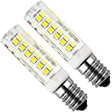Kakanuo 2pcs E14 5W LED Ampoule 430lm 220V Blanc Froid 6000K Hotte Remplacement A L'halogène Non-dimmable 75 2835smd