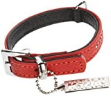 Karlie Flamingo 24183 Vintage Strass Halsband, rot, 10 mm 24 cm, schwarz Unterlegt