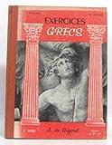Exercices grecs - 3e série, classes de 2e et 1re