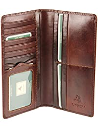 Visconti Mens Jacket Coat Veg Tan Leather Wallet For Credit Cards, Notes - MZ6