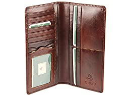 Visconti Mens Jacket Coat Veg Tan Leather Wallet for Credit Cards, Notes - Mz6