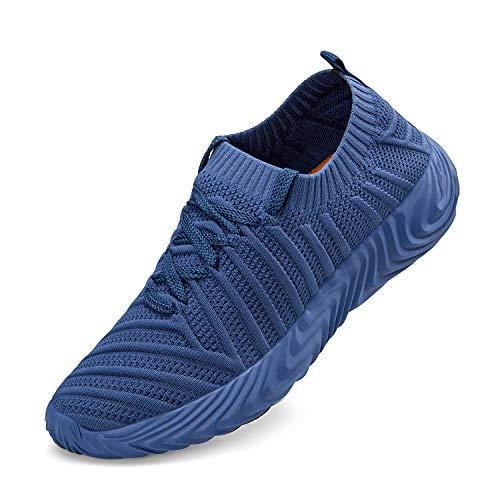 ZOCAVIA Turnschuhe f¡§1r Damen Wanderschuhe Leichte Mesh-Bequeme Schuhe, Blau, 41 EU