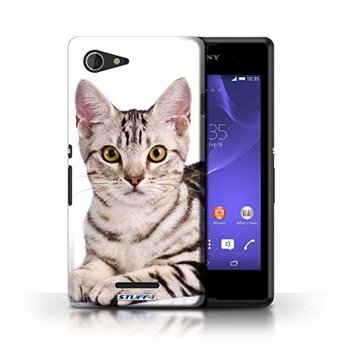 Kobalt® Imprimé Etui / Coque pour Sony Xperia E3 / Siamois conception / Série Espèces de chats American Shorthair