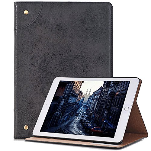 Samsung Galaxy Tab Case, elecfan Vintage Book Style Smart Stand Folio Cover, Built-in Card Slot with Multiple Viewing Angles Stylish Case for Galaxy Tab.