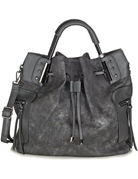 Xuna Damen Handtasche Henkeltasche PU Kunstleder mit Schulterriemen - groß (38 x 34 x 17 cm)