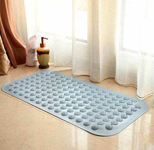 PLYY Haushaltsbadematte Badezimmer Dusche Badematte Bodenmatten wasserdicht Bad Toilette Matte Fußmatten, 01 Sky Blue, 47 * 79 (extra Large)