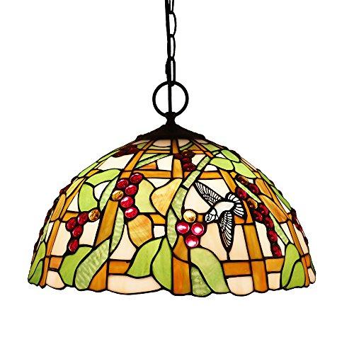 Tiffany Style Pendelleuchte, ZYF Beleuchtung Titania Antik Und Jeweled Uplighter Sunflower Design Pendelleuchten Anhänger Glasmalerei Schatten, 30 * 40Cm -